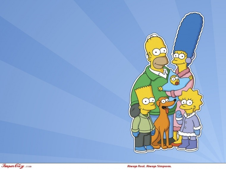 The Simpsons Yılbaşı 1080p wallpaper