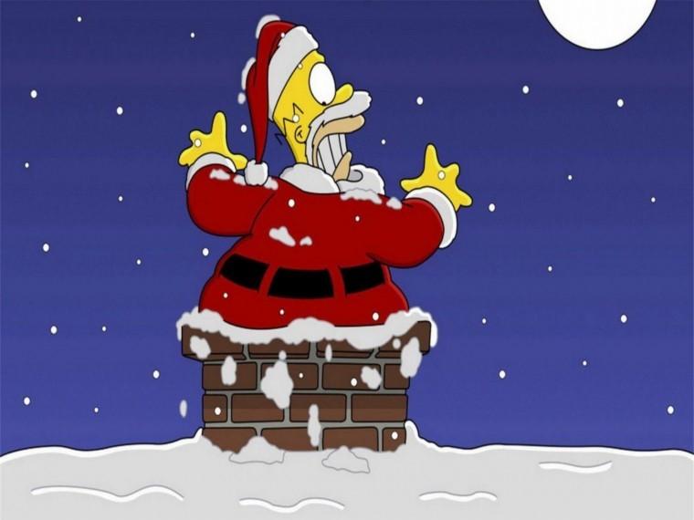 The Simpsons Yılbaşı 2k duvarkağıdı