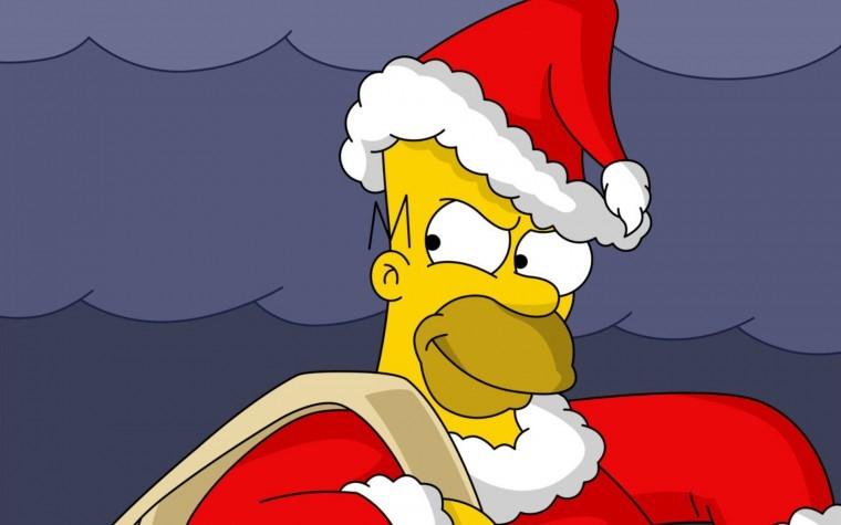 The Simpsons Yılbaşı 4k duvarkağıdı