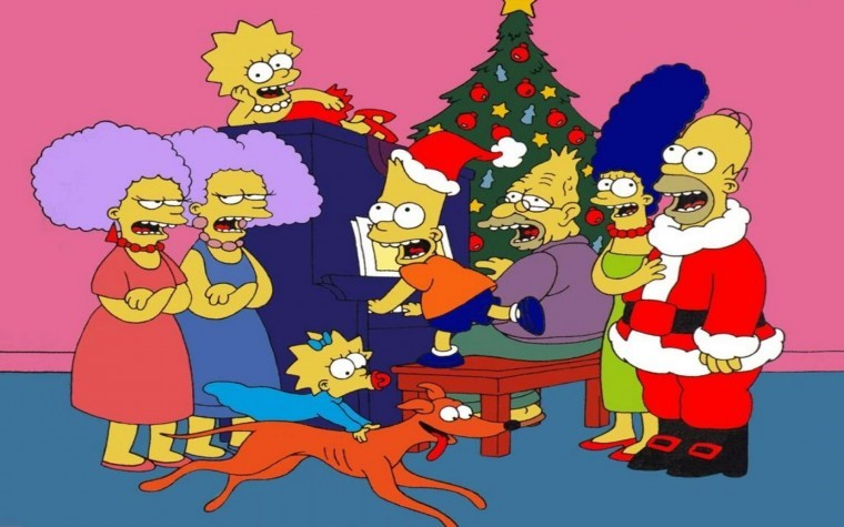 The Simpsons Yılbaşı 4k wallpaper