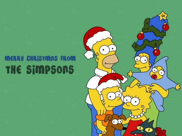 The Simpsons Yılbaşı 8k wallpaper