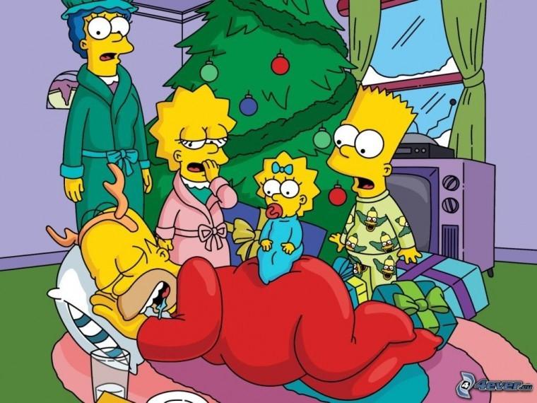The Simpsons Yılbaşı fotoğrafları