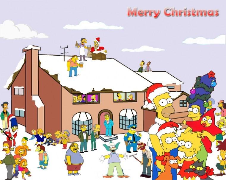 The Simpsons Yılbaşı hd duvarkağıtları