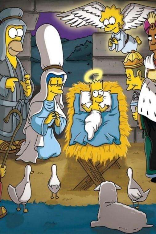 The Simpsons Yılbaşı uhd duvarkağıdı