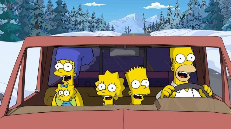 The Simpsons Yılbaşı uhd wallpaper